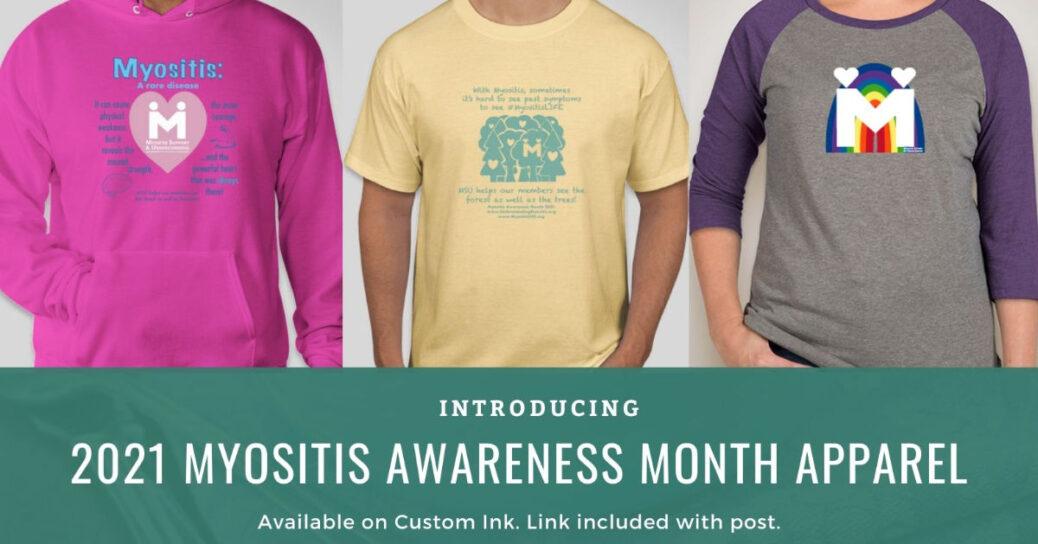 Myositis Awareness Month apparel campaigns