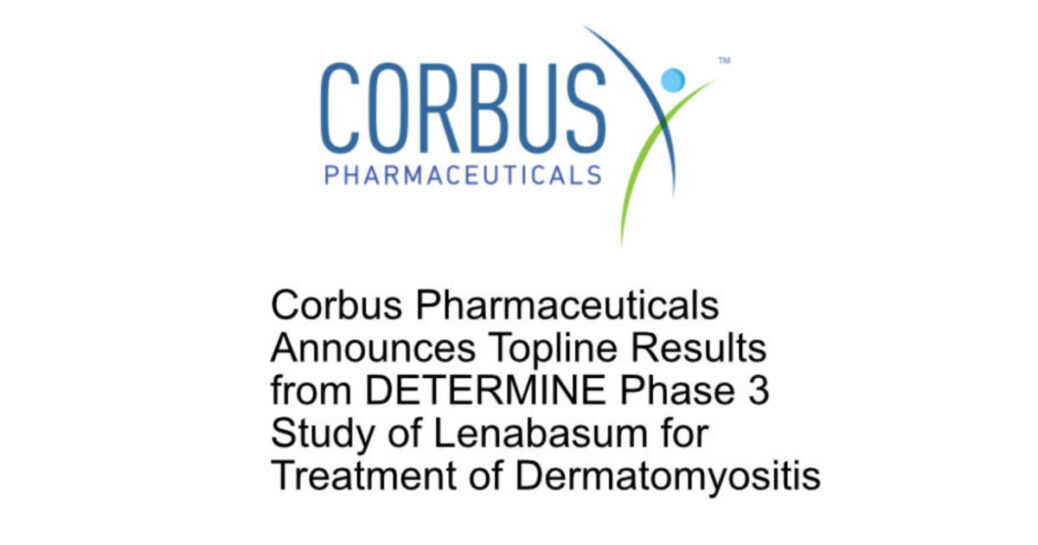Corbus releases topline results for the phase 3 study of lenabasum in dermatomyositis