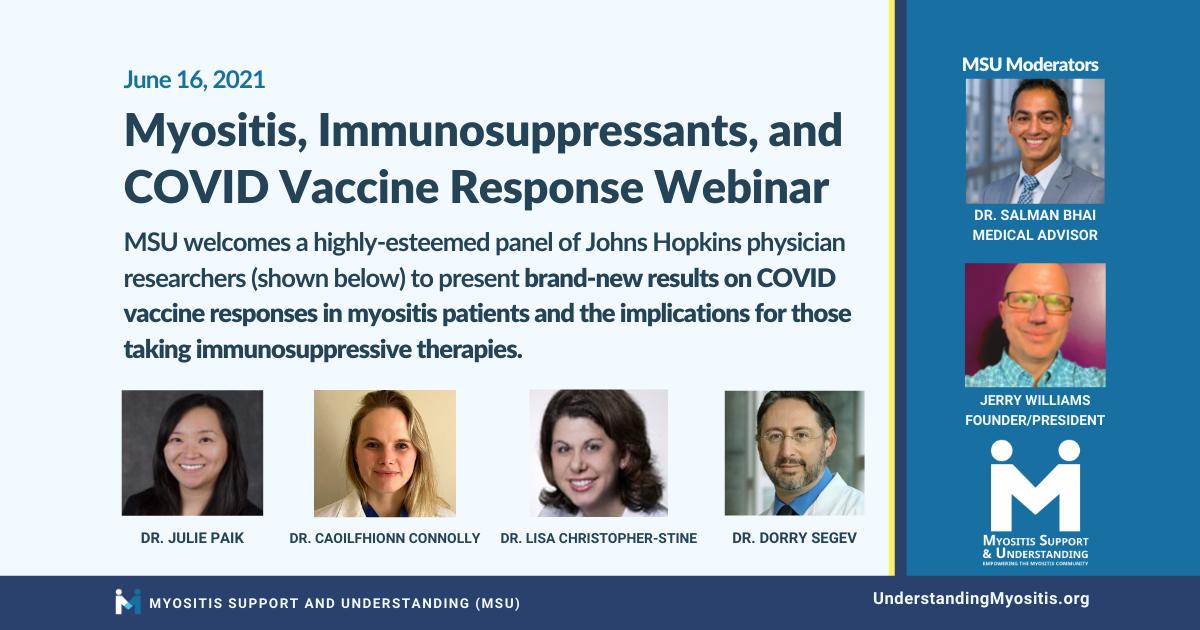 Myositis, Immunosuppressants and COVID Vaccine Response