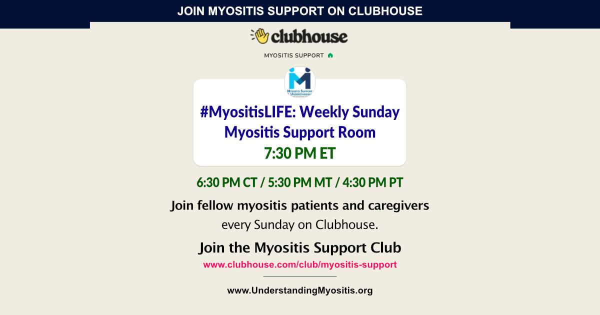 Join Myositis Support Club on Clubhouse