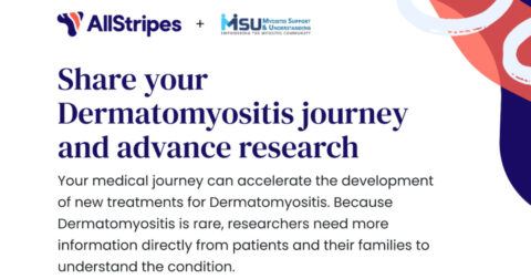 Myositis Support & Understanding and AllStripes are partnering to create a database that will enable new Dermatomyositis research projects!