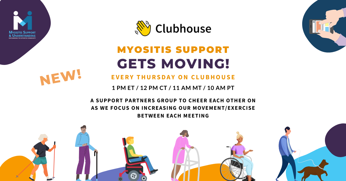 Myositis Support Gets Moving